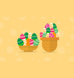Collection of easter egg style flat vector