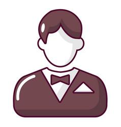 Croupier icon cartoon style vector