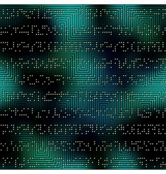 Dark green matrix pattern with the imitation of vector