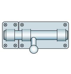 Door lock fastening vector image