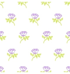 Floral pattern with small roses vector