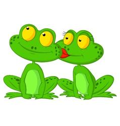 Frog cartoon kissing vector
