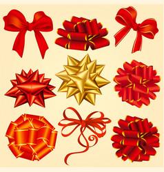gift box ribbons vector image vector image