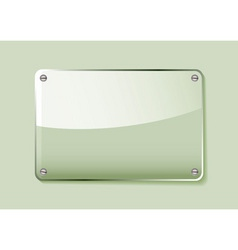 Green glass business name plate transparent with g vector