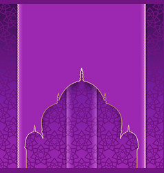 Greeting background with pattern to muslim vector