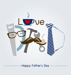 Happy fathers day concept design vector