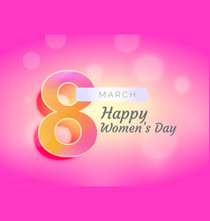 Happy womans day greeting card design with vector