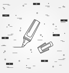 Marker pen Icon Marker pen Icon Marker pen Icon Dr vector image vector image