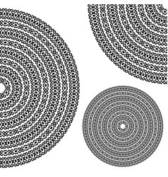 monochromatic ethnic textures round whole half vector image