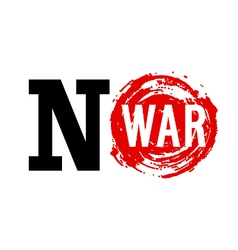 No war banner vector