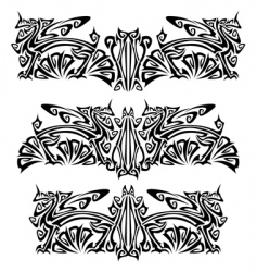 Ornaments with griffins vector
