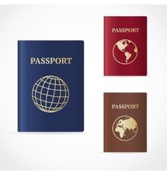Passport set flat design vector