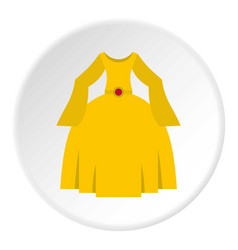 Princess dress icon circle vector