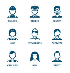 profession icons - set i vector image