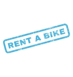 Rent a bike rubber stamp vector