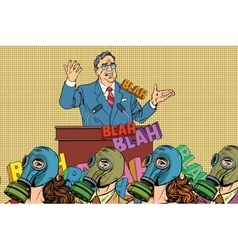 Retro political candidate electoral hygiene vector image