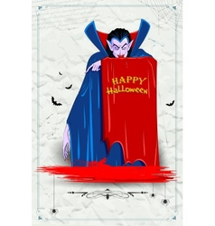 Scary Dracula in Halloween night vector image