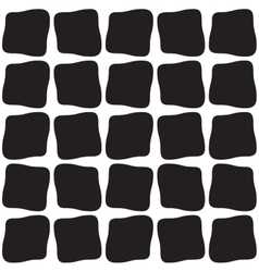 Seamless black and white rounded hand drawn vector