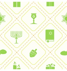 Seamless pattern with hanukkah symbol vector