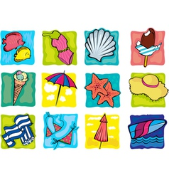 summer cliparts vector image