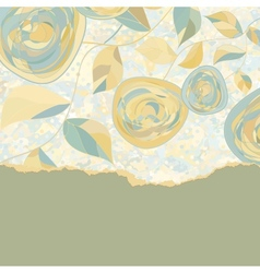 Vintage Rose Background vector image vector image