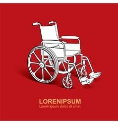 Wheelchair hand drawn vector