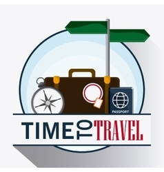 Icon set travel vacations trip vector