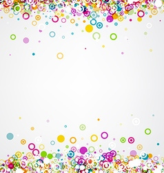 Background with circles pattern vector