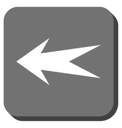 Arrow left rounded square icon vector
