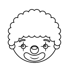 circus clown character icon vector image