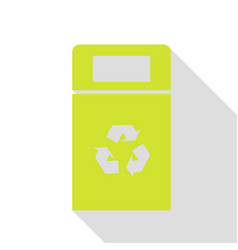 Trashcan sign pear icon with flat vector