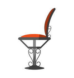Artistic iron forged chair icon image vector