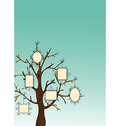 Vintage picture frames tree vector