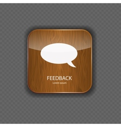 Feedback wood application icons vector