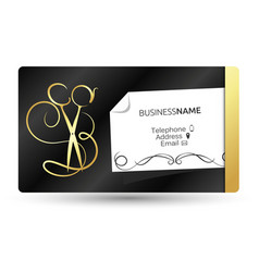 Business card for beauty salon and hairdresser vector