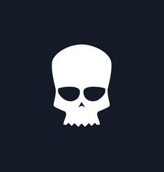 white biker skull vector image