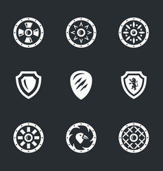 Shields icons vector