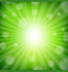 Green sunburst poster vector