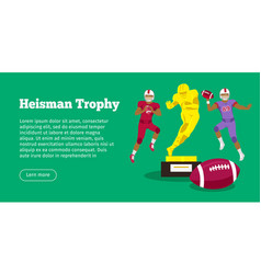 Heisman trophy and american football players vector