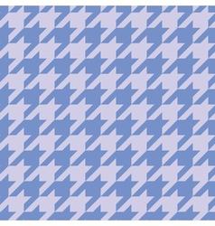 Houndstooth tile blue background wallpaper vector image