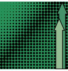 green background from black dots vector image