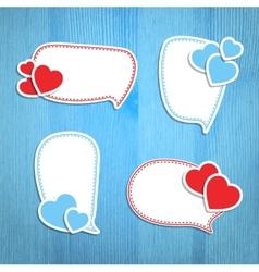 Valentine Day frames vector image