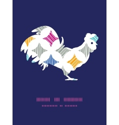 Colorful marble textured tiles rooster vector