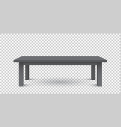 3d table for object presentation empty black top vector