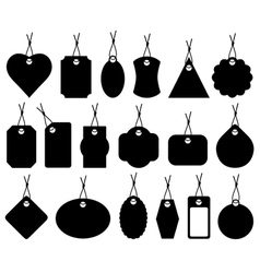 Set of different price tags vector