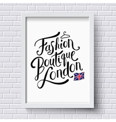 Fashion boutique  london vector