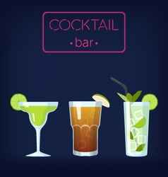 Cocktail bar set vector