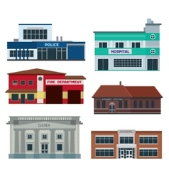 Service city buildings vector