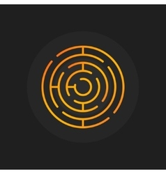 Golden circle maze icon vector