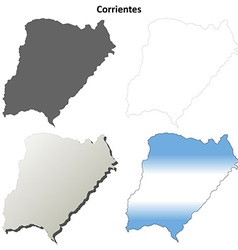 Corrientes blank outline map set vector